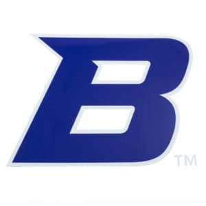 "Blue & Grey Boise State ""B"" Sticker"