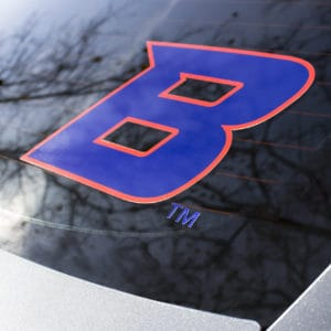 "Blue & Orange ""B"" Car Decal"