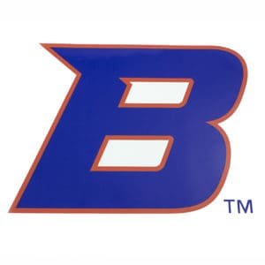 "Blue & Orange Boise State ""B"" Sticker"