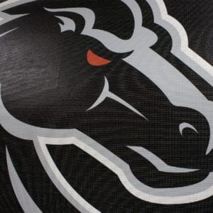 Black & Grey Boise State Banner- Mesh Detail Shot