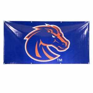 Blue & Orange Boise State Bronco Banner- Vinyl 3x6