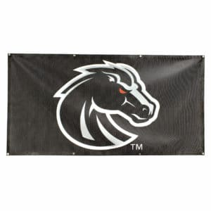 Black & Grey Boise State Bronco Banner- Mesh 3x6