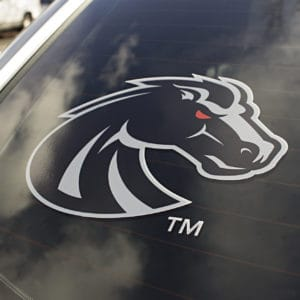 Black & Grey Boise State Bronco Car Decal