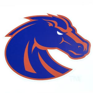 Blue & Orange Boise State Bronco Decal