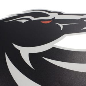 Black & Grey Boise State Bronco Wall Graphic-Detail Shot