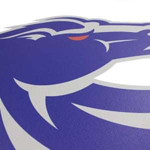 Blue & Grey Boise State Bronco Wall Graphic-Detail Shot