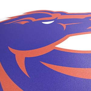 Blue & Orange Boise State Bronco Wall Graphic- Detail Shot
